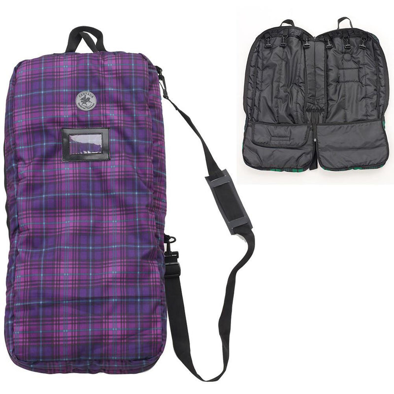 Centaur 6 Briddle Organizer Bag in Orchid Plaid
