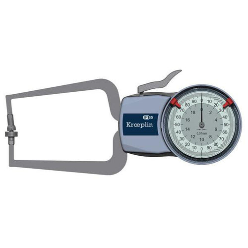 Kroeplin D220T (0-20mm) Foamed Materials & Foils Measurement Caliper