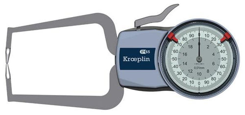 Kroeplin D220 (0-20mm) External Metric Calipers