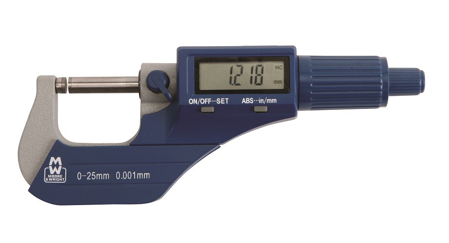 Moore & Wright 75-100mm Value Line Digital Micrometer MW200-04DBL