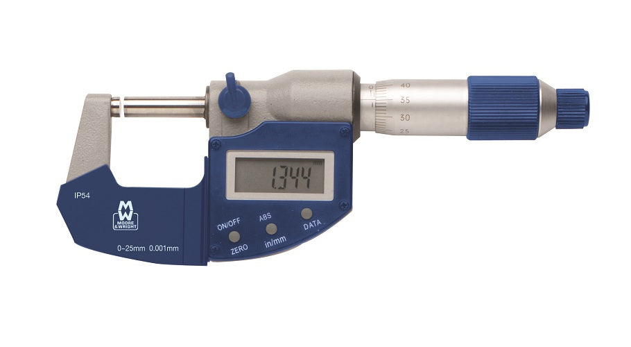 50-75mm IP54 Digital Micrometer MW201-03DAB - Digital Micrometers Ltd