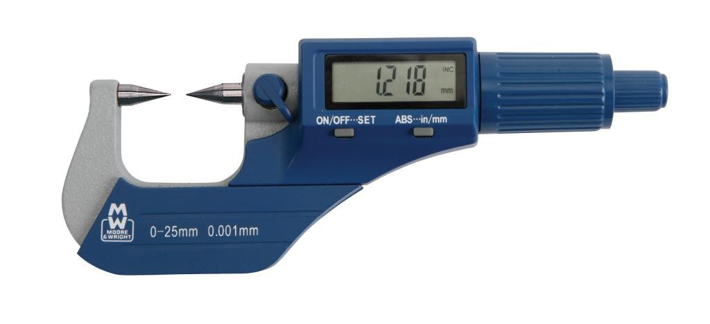 Moore & Wright MW270-03DDL (50-75mm) Workshop Digital Point Micrometer