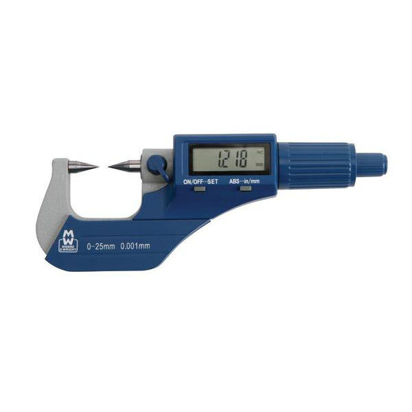 Moore & Wright MW270-01DDL (0-25mm) Workshop Digital Point Micrometer