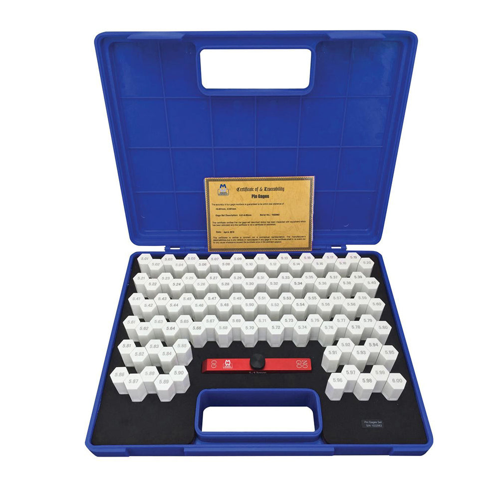 Moore & Wright MW725-07 Steel Pin Gauge Set - 100 Pieces