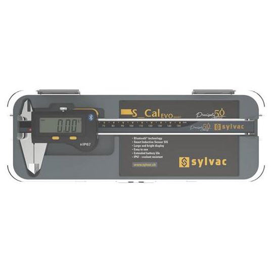 Sylvac 50 Years 30-810-1506/50 (0-150mm) Digital Caliper S_Cal EVO Bluetooth IP67