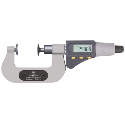 TESA 06030045 Micromaster IP54 0-30mm Interchangeable Anvil Digital Micrometer
