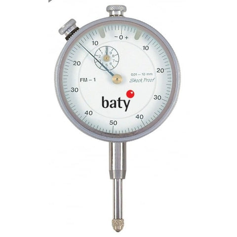 Baty FM-2 (10mm) Analogue Plunger Dial Indicator