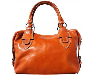 Leather Handbag with Double Handle