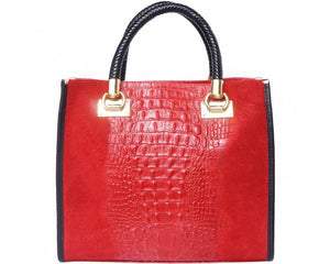 Italian Leather Tote Handbag - Made in Italy  PERFECT FOR SUMMER