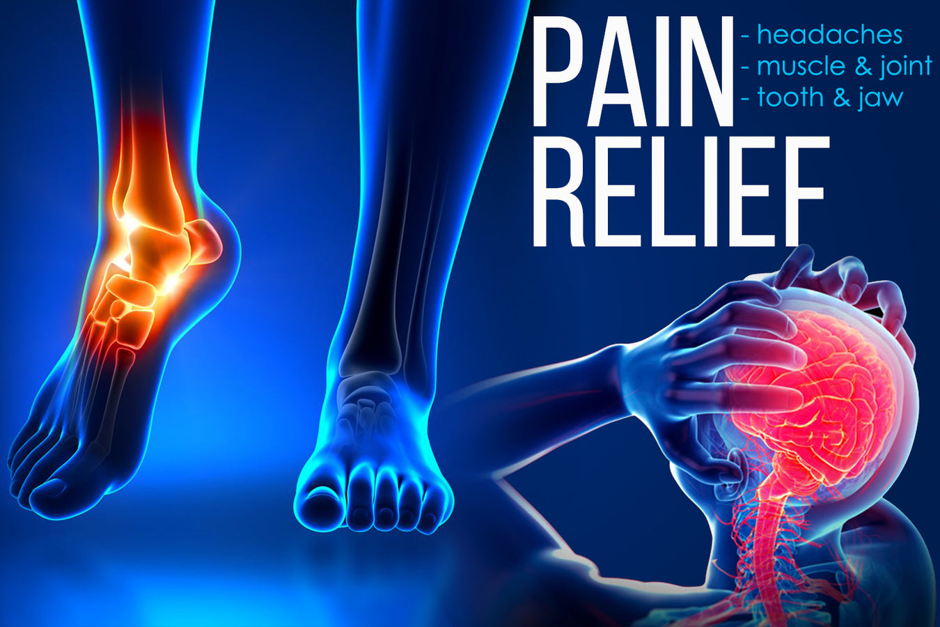 PAIN RELIEF headaches, muscle & joint, tooth & jaw
