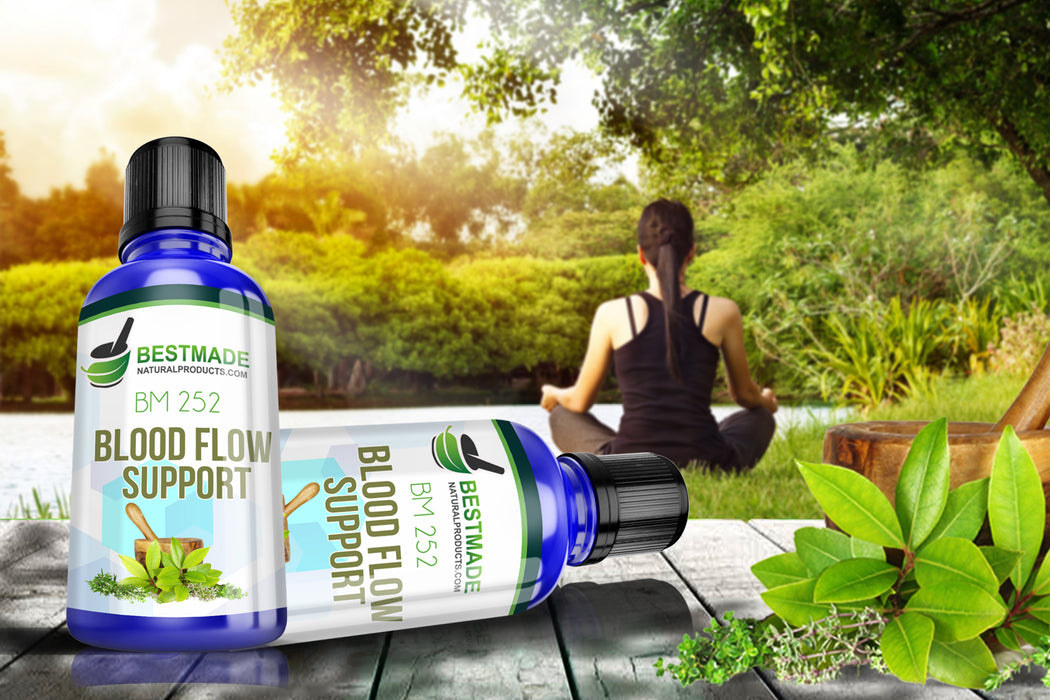 A lifestyle image of women relaxing in nature with product shot for Natural Remedy for Frustration & Temper Control