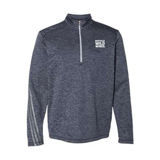 Mens Adidas Brushed Terry Heathered 1/4 zip pullover