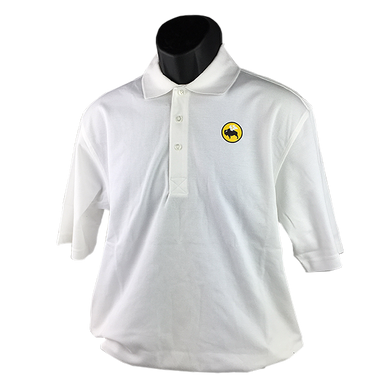 MENS WHITE PA Rapid Dry Polo