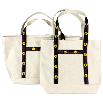 Medium tote in front, large tote behind