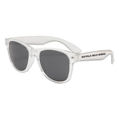 Plastic Sunglasses w/ the Buffalo Wild Wings logo printed on both sides
