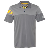 Adidas - Heathered 3-Stripes Sport Shirt Vista Grey/ EQT Yellow