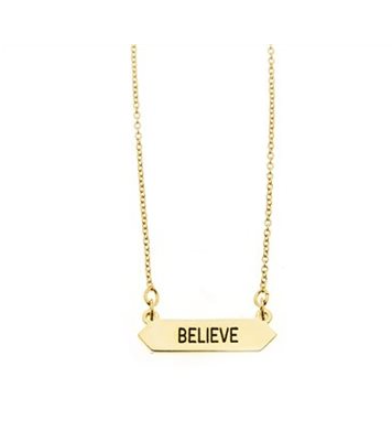Believe Necklace in Gold