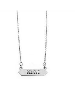 Believe Necklace in Silver