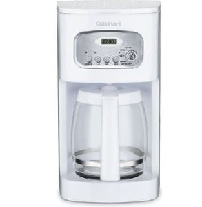 Cuisinart Brew Central 12-Cup Programmable Coffeemaker, White (Refurbished)