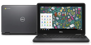 "Dell Chromebook 11 (5190) 2in1 Touch 11.6"" Laptop Intel Celeron N3350 4GB RAM 64GB eMMC Chrome OS (Refurbished)"
