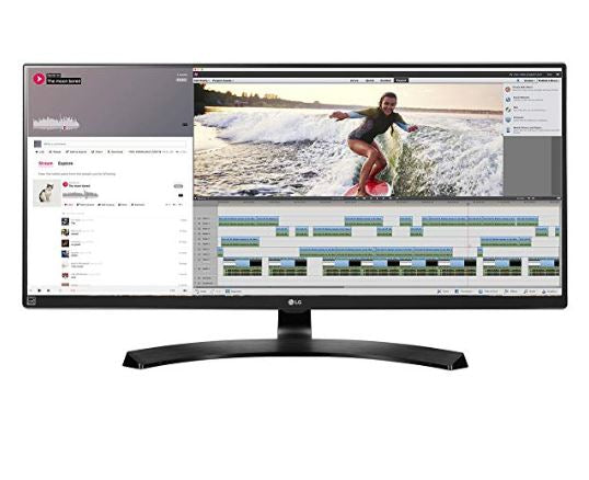 LG 34UM88C-P 34-Inch 21:9 UltraWide QHD IPS Monitor with USB Quick Charge  and FreeSync