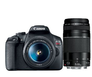Canon EOS Rebel T7 DSLR Camera with EF18-55mm + EF 75-300mm Kit