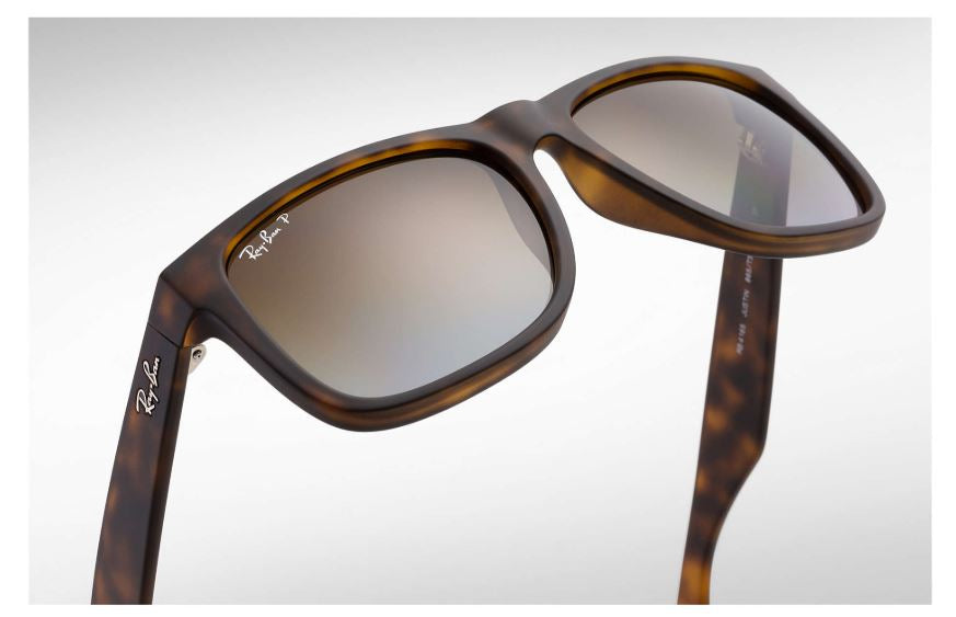 ... Ray-Ban Justin RB4165 865-T5 55mm Rubber Brown Gradient-Tortoise  Polarized 3e09b4a95b