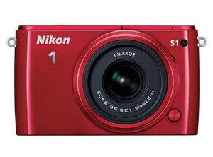 Nikon 1 S1 10.1MP Digital Camera with 11-27.5mm Lens (Refurbished, Red)
