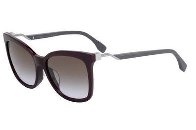 Fendi 56mm Oval Butterfly Retro Sunglasses