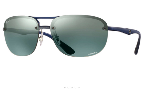 Gray Ray-Ban Mirror Chromance Sunglasses