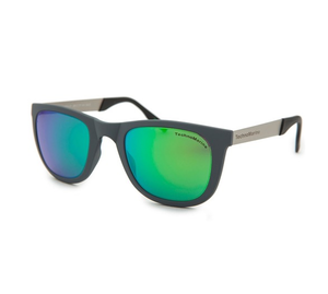 TechnoMarine Black Reef Wayfarer Mirrored Lens Sunglasses