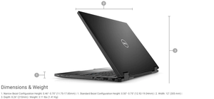 "Dell Latitude 13 7389 2-in-1 13.3"" Touchscreen Laptop Intel Core i7-7600u 16GB RAM 256GB SSD (Refurbished)"