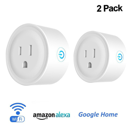 Deco Gear 2 Pack Wifi Smart Plug, Compatible with Amazon Alexa & Google Home