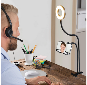 Aduro U-Stream Selfie Ring Light with Gooseneck Stand  & Phone Holder