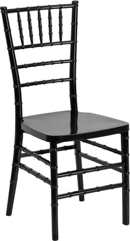 Flash Furniture LE-BLACK-GG Flash Elegance Black Resin Stacking Chiavari Chair - FlashFurnitureStore