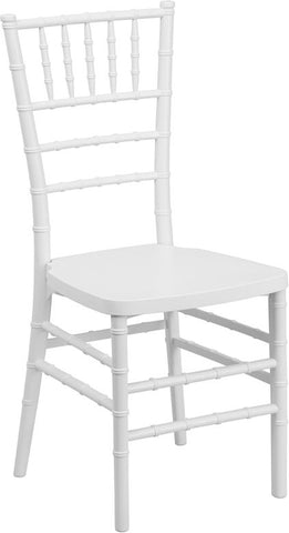 Flash Furniture LE-WHITE-GG Flash Elegance White Resin Stacking Chiavari Chair - FlashFurnitureStore