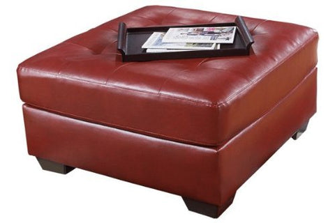 Flash Furniture FSD-2399OTT-RED-GG Signature Design by Ashley Alliston Oversized Ottoman in Salsa DuraBlend - Peazz Furniture