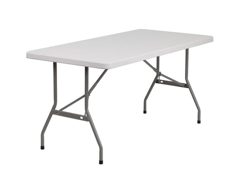 Flash Furniture RB-3060-GG 30''W x 60''L Blow Molded Plastic Folding Table - Peazz Furniture
