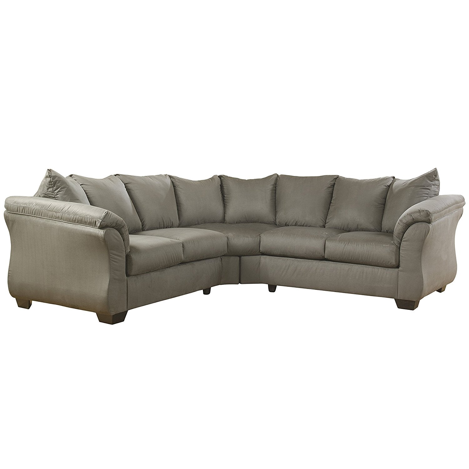 Design Ashley Darcy Sectional Cobblestone Fabric Signature 934 Product Photo