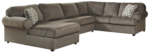 Flash Furniture FSD-6049SEC-DUN-GG Signature Design by Ashley Jessa Place Sectional in Dune Fabric - Peazz Furniture