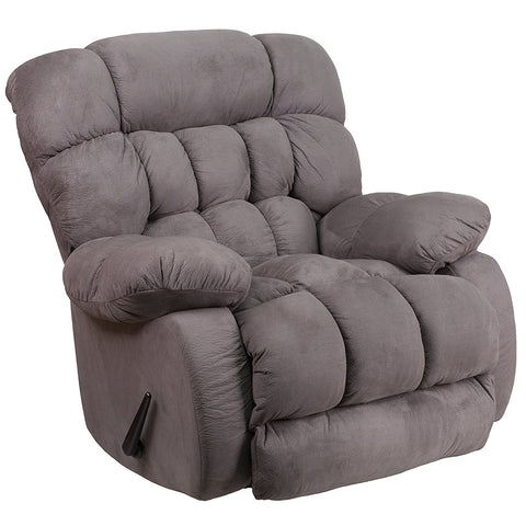 Flash Furniture WM-9200-531-GG Contemporary Softsuede Graphite Microfiber Rocker Recliner - Peazz Furniture - 1
