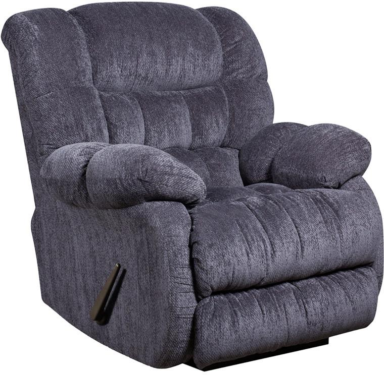 Flash Columbia Indigo Blue Microfiber Rocker Recliner Contemporary