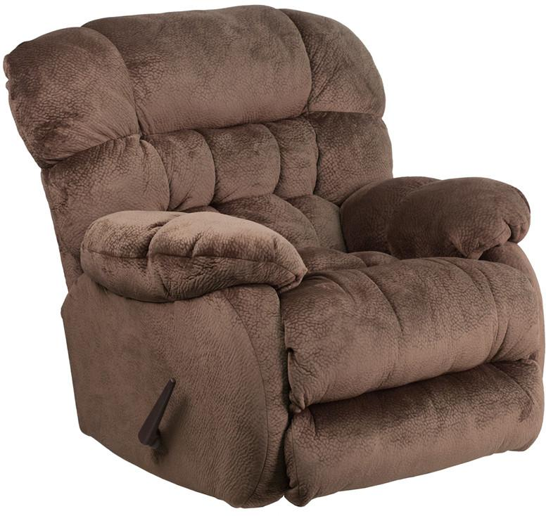 Sharpei Espresso Microfiber Rocker Recliner 17040 Product Photo