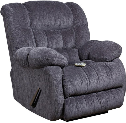 Flash Furniture AM-H9460-5861-GG Massaging Columbia Indigo Blue Microfiber Rocker Recliner with Heat Control - Peazz Furniture