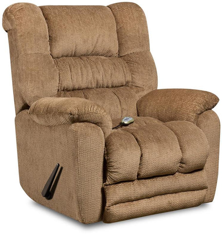 Flash Furniture AM-H9560-6450-GG Massaging Temptation Fawn Microfiber Rocker Recliner with Heat Control - Peazz Furniture