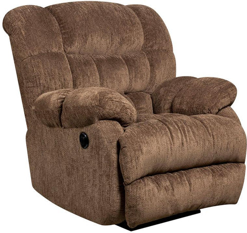 Flash Furniture AM-P9460-5860-GG Contemporary Columbia Mushroom Microfiber Power Recliner with Push Button - Peazz Furniture