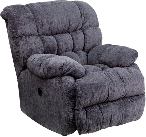 Flash Furniture AM-P9460-5861-GG Contemporary Columbia Indigo Blue Microfiber Power Recliner with Push Button - Peazz Furniture