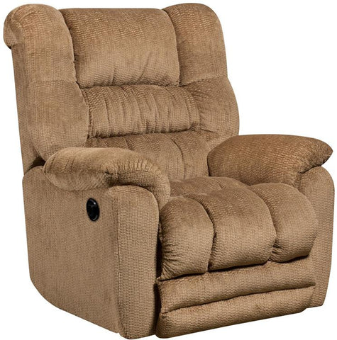 Flash Furniture AM-P9560-6450-GG Contemporary Temptation Fawn Microfiber Power Recliner with Push Button - Peazz Furniture