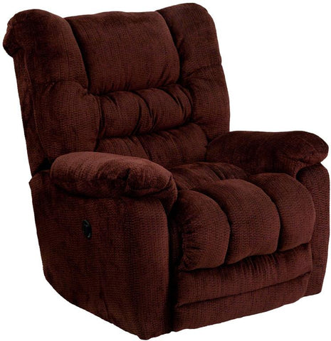 Flash Furniture AM-P9560-6451-GG Contemporary Temptation Merlot Microfiber Power Recliner with Push Button - Peazz Furniture