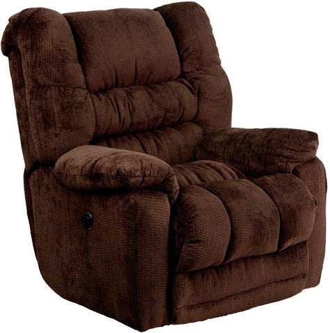 Flash Furniture AM-P9560-6452-GG Contemporary Temptation Mahogany Microfiber Power Recliner with Push Button - Peazz Furniture